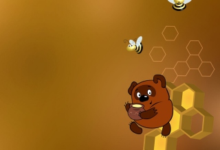 Winnie The Pooh With Honey - Obrázkek zdarma pro Samsung I9080 Galaxy Grand