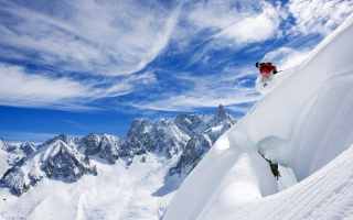 Skiing In France Background for Android, iPhone and iPad