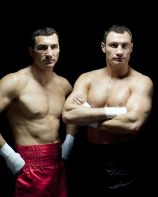 Klitschko brothers Wladimir and Vitali - Obrázkek zdarma pro iPhone 6 Plus