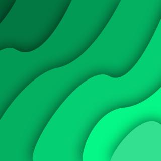 Green Waves - Obrázkek zdarma pro 208x208