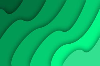 Green Waves - Obrázkek zdarma pro Nokia Asha 205
