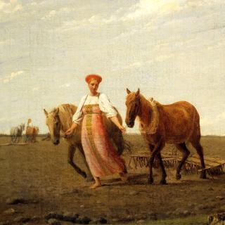 Aleksey Venetsianov, Ploughed Fields - Obrázkek zdarma pro 1024x1024