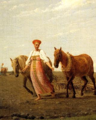 Aleksey Venetsianov, Ploughed Fields - Obrázkek zdarma pro 480x640