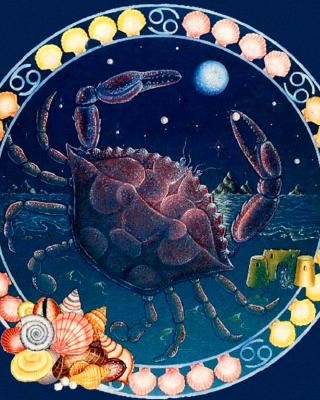 Cancer Zodiac - Obrázkek zdarma pro 360x400