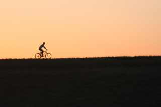 Bicycle Ride In Field Background for Android, iPhone and iPad