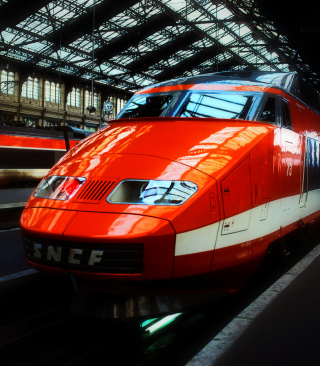 Orange High Speed Train - Obrázkek zdarma pro Nokia Asha 202