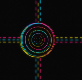 Hypnotic Neon Lights - Obrázkek zdarma pro iPad mini