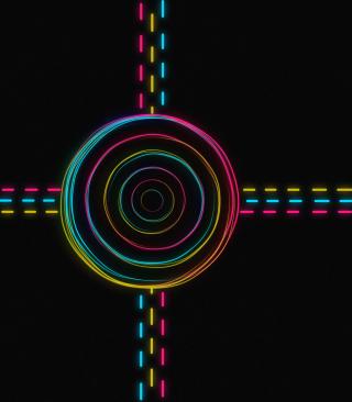 Hypnotic Neon Lights - Obrázkek zdarma pro Nokia Asha 305