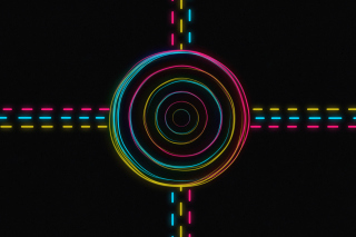 Hypnotic Neon Lights Picture for Android, iPhone and iPad