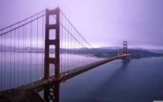 Fog Surround Golden Gate Background for Android, iPhone and iPad