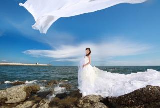 Cute Asian Girl Bride - Obrázkek zdarma pro Samsung Galaxy Note 2 N7100