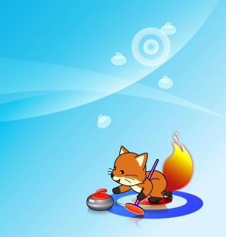Firefox Curling - Obrázkek zdarma pro iPad mini
