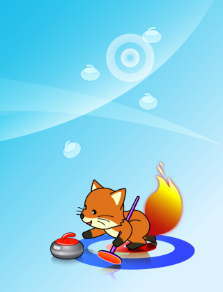 Firefox Curling - Obrázkek zdarma pro 240x320