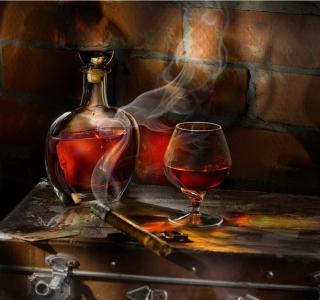 Whiskey and Cigar - Obrázkek zdarma pro iPad 3