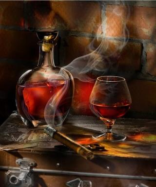 Whiskey and Cigar - Obrázkek zdarma pro 352x416