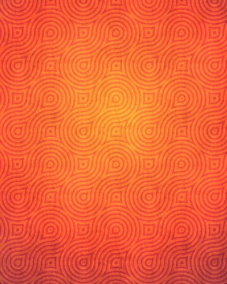 Orange Abstract Pattern - Obrázkek zdarma pro iPhone 4