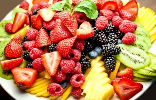 Fruit Plate Picture for Android, iPhone and iPad