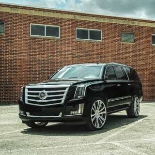 Cadillac Escalade Black - Obrázkek zdarma pro 128x128