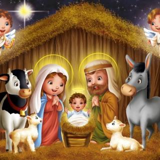 Birth Of Jesus - Obrázkek zdarma pro 128x128