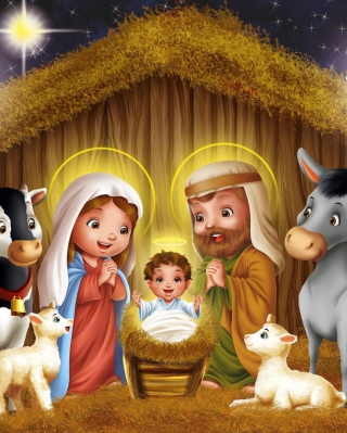 Birth Of Jesus - Obrázkek zdarma pro Nokia Asha 202