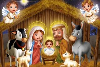 Birth Of Jesus - Obrázkek zdarma pro Samsung Galaxy Tab 4G LTE