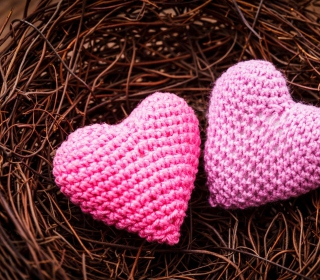 Knitted Pink Heart - Obrázkek zdarma pro 128x128