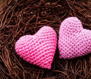 Knitted Pink Heart - Obrázkek zdarma pro iPad Air