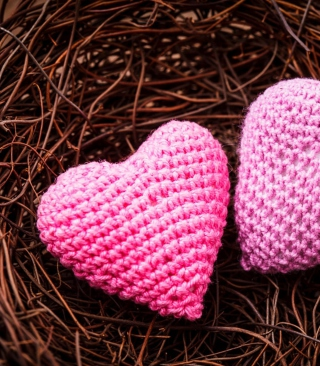 Knitted Pink Heart - Obrázkek zdarma pro iPhone 4S