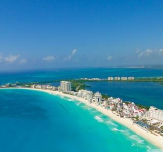 Blue Cancun - Obrázkek zdarma pro 208x208