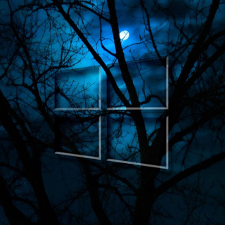 Windows 10 HD Moon Night - Obrázkek zdarma pro iPad mini 2