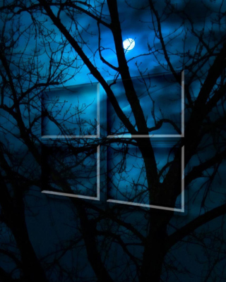 Windows 10 HD Moon Night - Obrázkek zdarma pro iPhone 5C