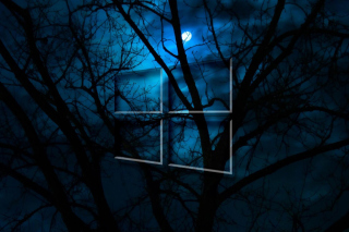 Windows 10 HD Moon Night - Obrázkek zdarma pro HTC Wildfire