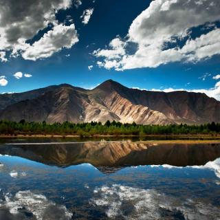 Mountain Lake In Chile - Obrázkek zdarma pro iPad