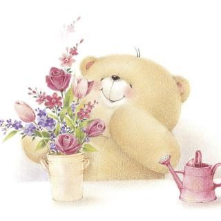 Forever Friends Teddy Bear - Obrázkek zdarma pro iPad