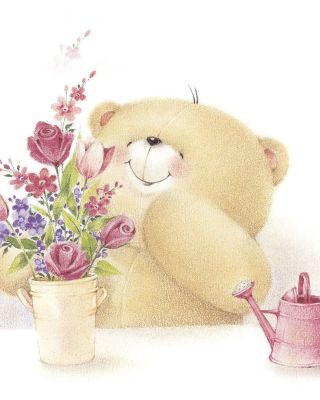 Forever Friends Teddy Bear - Obrázkek zdarma pro 176x220