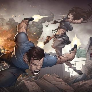 Game Art Shootout by Patrick Brown - Obrázkek zdarma pro iPad mini 2