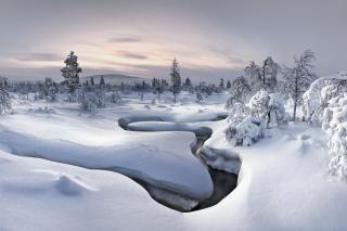 Winter River - Fondos de pantalla gratis para Sony Ericsson XPERIA PLAY