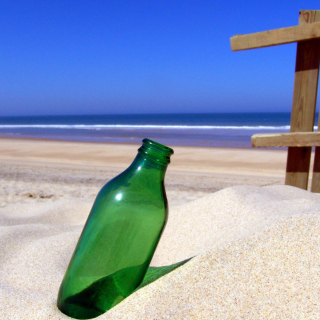 Bottle Beach - Obrázkek zdarma pro iPad