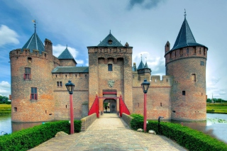 Muiderslot Castle in Netherlands Background for Android, iPhone and iPad