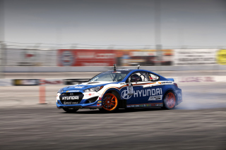 Hyundai Genesis Coupe Race Cars Wallpaper for Android, iPhone and iPad