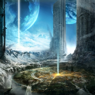 Fantasy Space World - Obrázkek zdarma pro 1024x1024