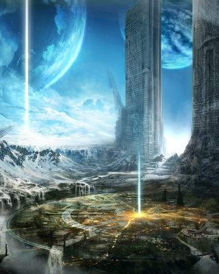 Fantasy Space World - Obrázkek zdarma pro Nokia C1-02