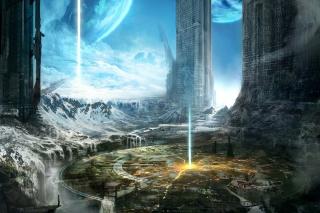 Fantasy Space World - Obrázkek zdarma pro Motorola DROID