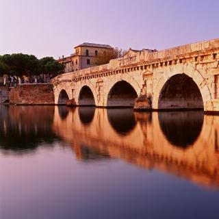 Tiberius Bridge, Rimini - Obrázkek zdarma pro 320x320