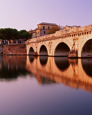 Tiberius Bridge, Rimini - Obrázkek zdarma pro 240x432