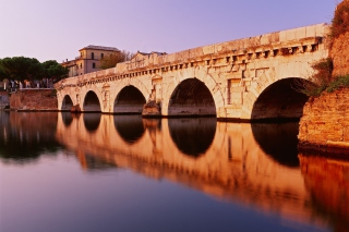 Tiberius Bridge, Rimini - Obrázkek zdarma pro Android 640x480