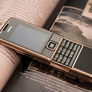 Nokia 8800 Gold Arte Rose - Obrázkek zdarma pro iPad 3