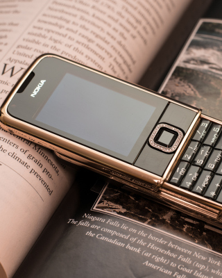 Nokia 8800 Gold Arte Rose - Obrázkek zdarma pro 352x416