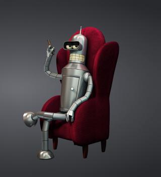 3D Bender Futurama - Obrázkek zdarma pro 208x208