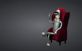 3D Bender Futurama - Obrázkek zdarma pro Samsung Galaxy Tab 4G LTE